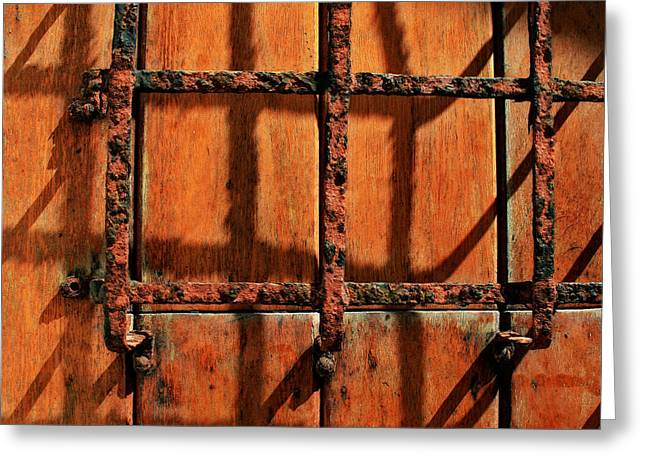 Old San Juan Greeting Cards - Bars and Shadows Greeting Card by Perry Webster