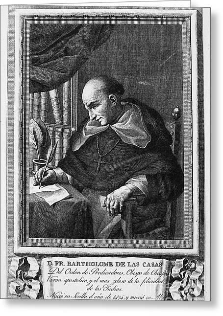 Cassocks Greeting Cards - Bartolome De Las Casas Greeting Card by Granger