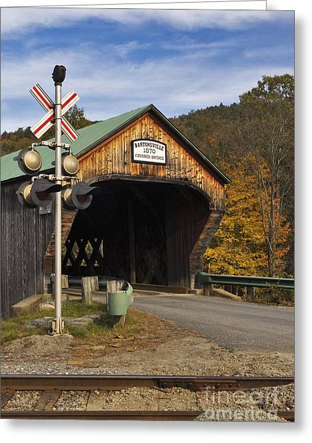 Covered Bridge Greeting Cards - Bartonsville Covered Bridge - D000553 Greeting Card by Daniel Dempster
