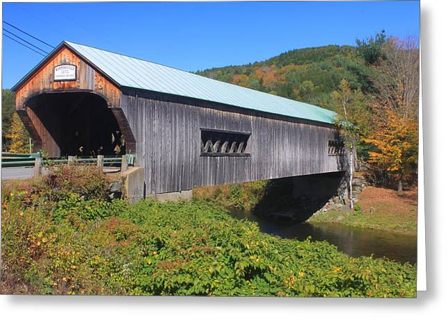 Covered Bridge Greeting Cards - Bartonsville Vermont Covered Bridge Greeting Card by John Burk