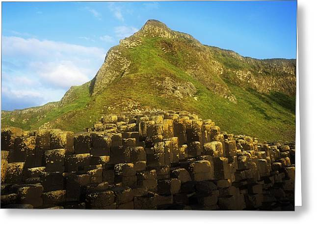 Union Square Greeting Cards - Basalt Rock Formations Near A Mountain Greeting Card by The Irish Image Collection
