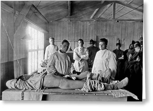 Western Front Greeting Cards - Base Hospital In World War I Greeting Card by Usa National Library Of Medicine