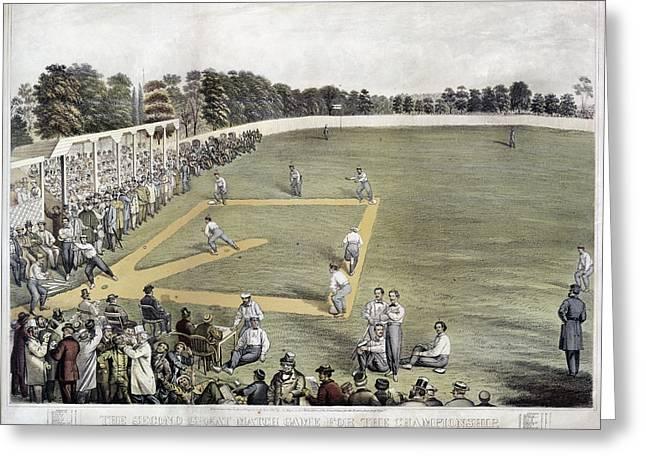 Baseball, 1866 Greeting Card by Granger