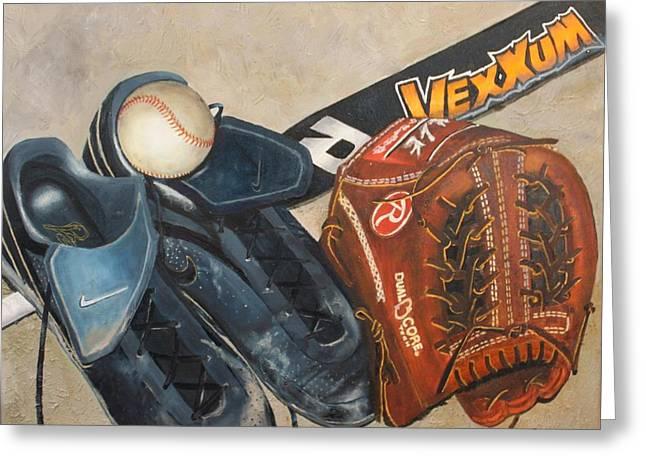 Baseball Allstar Greeting Card by Teri Vaughn