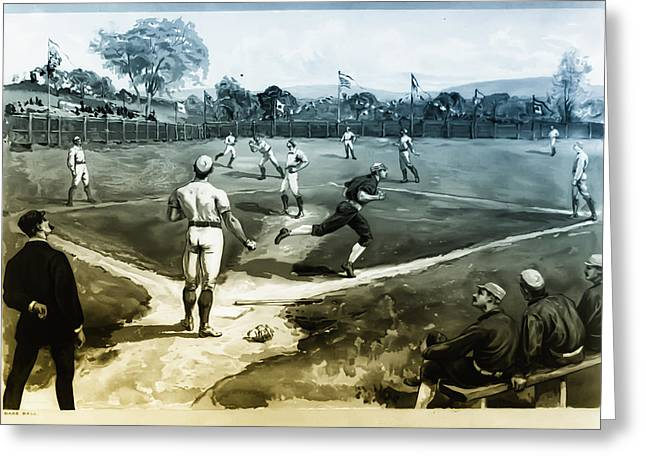 Baseball Print Greeting Cards - Baseball Greeting Card by Bill Cannon