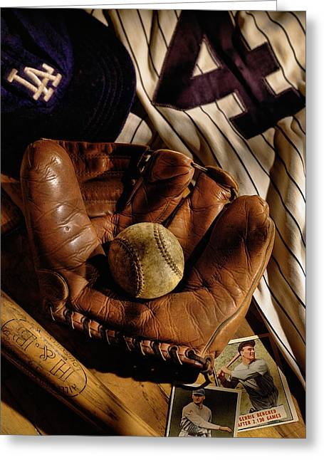 Baseball Greeting Card by Bob Nardi