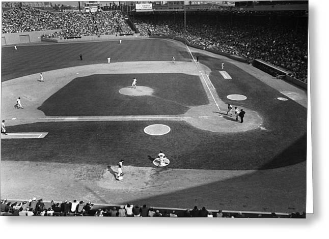 Minnesota Twins Greeting Cards - Baseball Game, 1967 Greeting Card by Granger