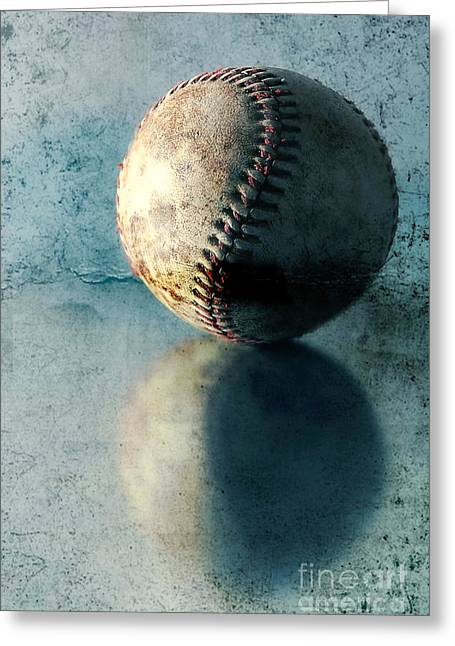 Baseball Photographs Greeting Cards - Baseball Greeting Card by HD Connelly