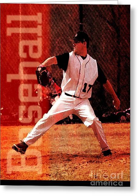 Baseball Greeting Card by John Turek