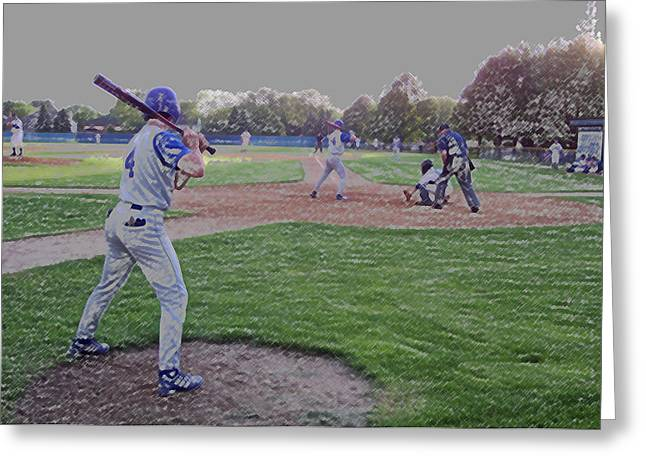 Baseball On Deck Digital Art Greeting Card by Thomas Woolworth