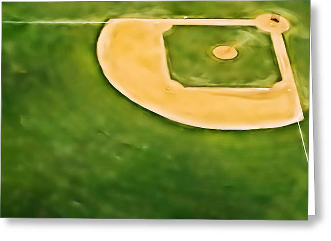 Baseball Greeting Card by Patrick M Lynch