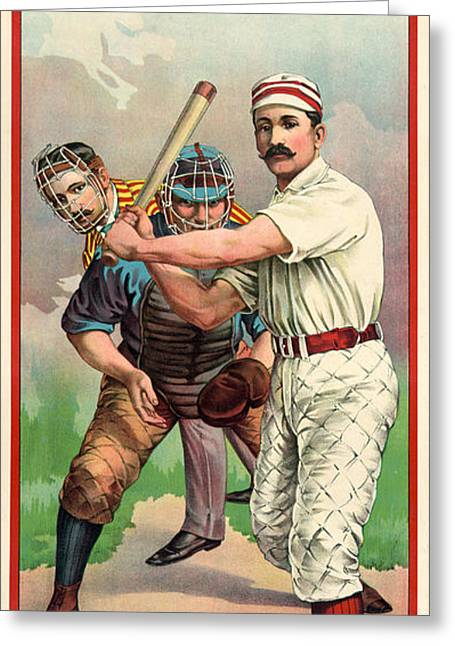 Baseball Player, C1895 Greeting Card by Granger