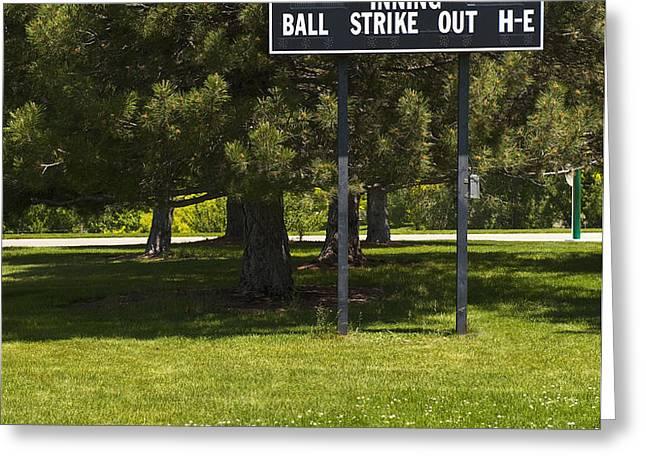 Baseball Scoreboard Greeting Card by Thom Gourley/Flatbread Images, LLC