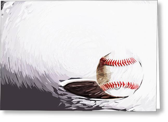 baseball Greeting Card by Tilly Williams