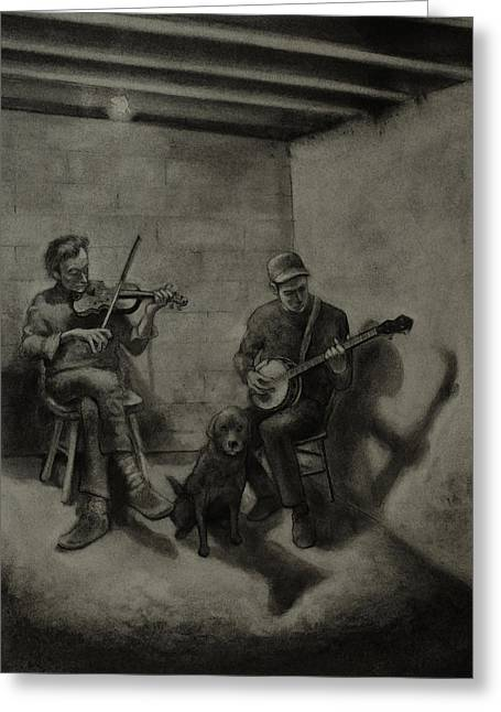 Basement Drawings Greeting Cards - Basement Ballad Greeting Card by Anthony Shechtman