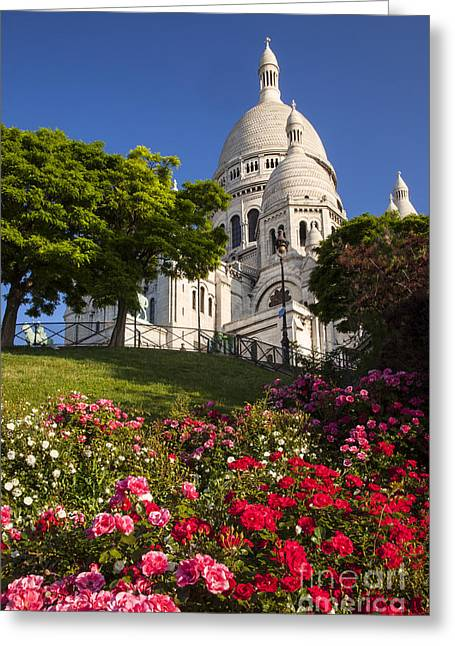 Basilique Du Sacre Coeur Greeting Card by Brian Jannsen