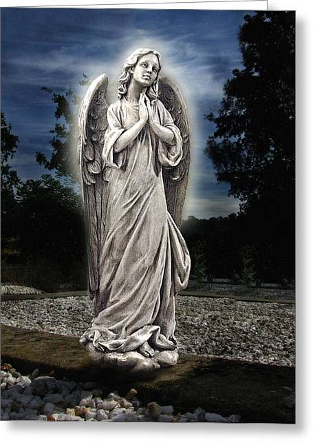 Headstones Greeting Cards - Bask In His Glory Greeting Card by Peter Piatt