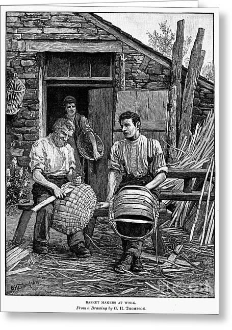 Basket Maker Greeting Cards - Basket Makers, 1883 Greeting Card by Granger