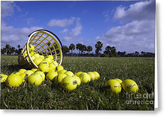 Best Sellers -  - Basket Ball Game Greeting Cards - Basket of Golf Balls Greeting Card by Skip Nall