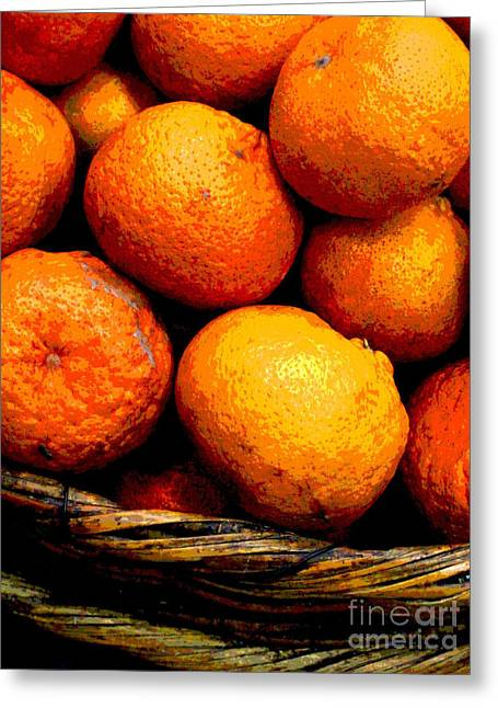 Gypsy Greeting Cards - Basket of Oranges by Darian Day Greeting Card by Olden Mexico