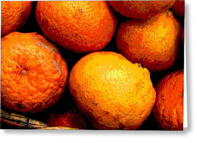 Basket of Oranges by Darian Day Greeting Card by Olden Mexico