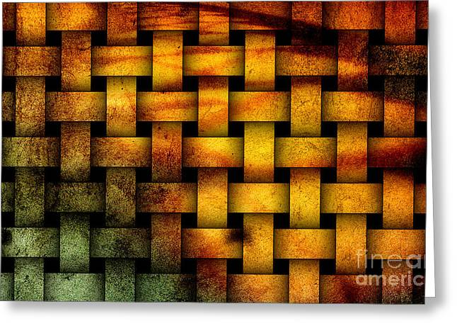 Interpretive Greeting Cards - Basket weave abstract. Greeting Card by Emilio Lovisa