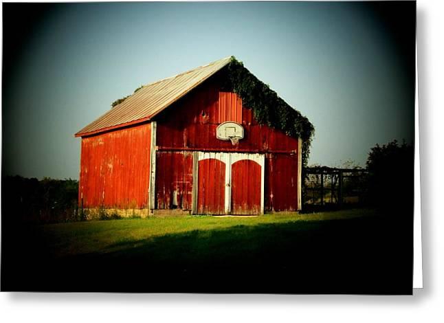 Basketball Barn Greeting Card by Michael L Kimble