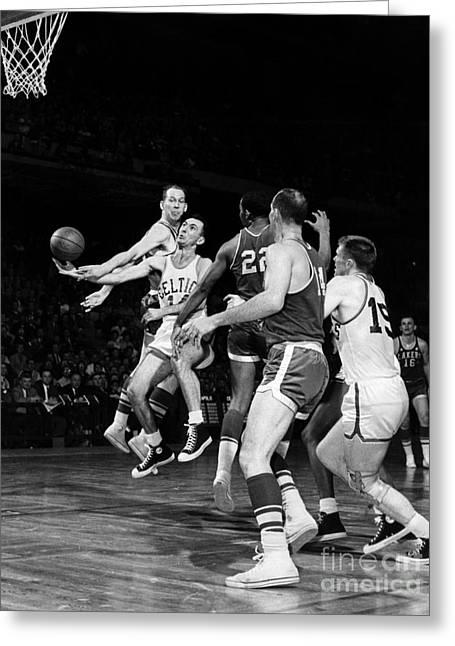 Basketball Game, C1960 Greeting Card by Granger