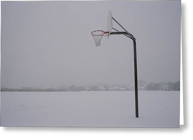 Germantown Greeting Cards - Basketball Goal Standing By Itself Greeting Card by Brian Gordon Green