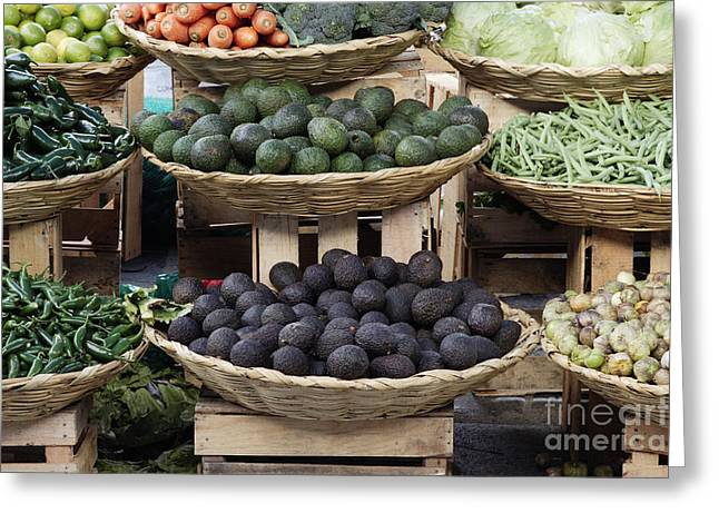 Grocery Store Greeting Cards - Baskets of Fruits & Vegetables Greeting Card by Jeremy Woodhouse