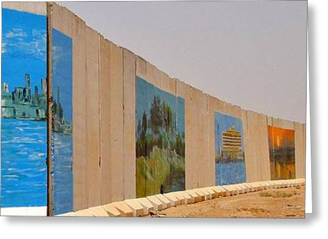 Iraq Conflict Greeting Cards - Basrah Murals Greeting Card by Unknown - Local Iraqi Nationals