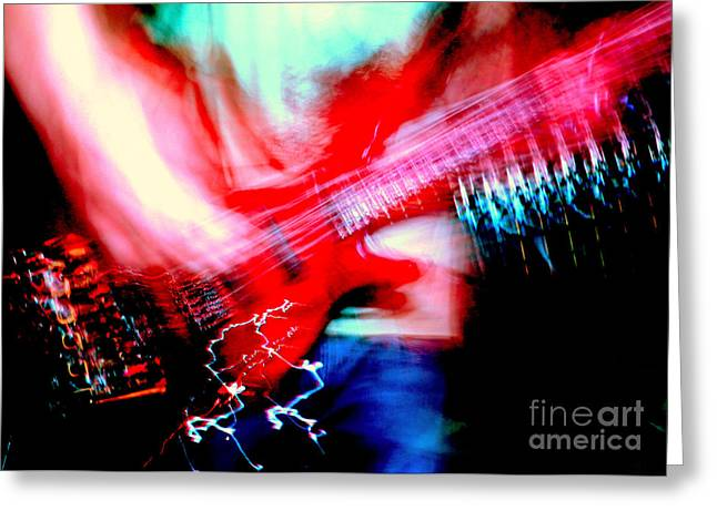 Bass Guitar 1 Greeting Card by Jason D Rogers