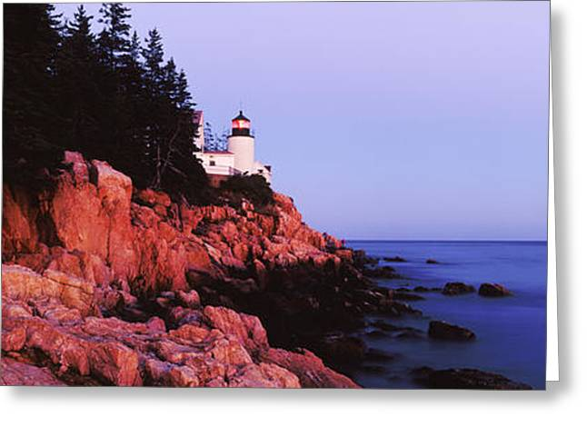 Maine Lighthouses Greeting Cards - Bass Harbor Lighthouse at Dusk Greeting Card by Jeremy Woodhouse