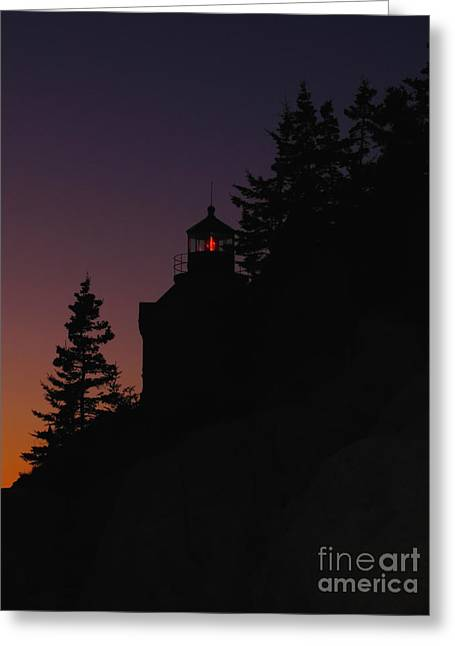 New England Lighthouse Greeting Cards - Bass Harbor Lighthouse Greeting Card by Juergen Roth