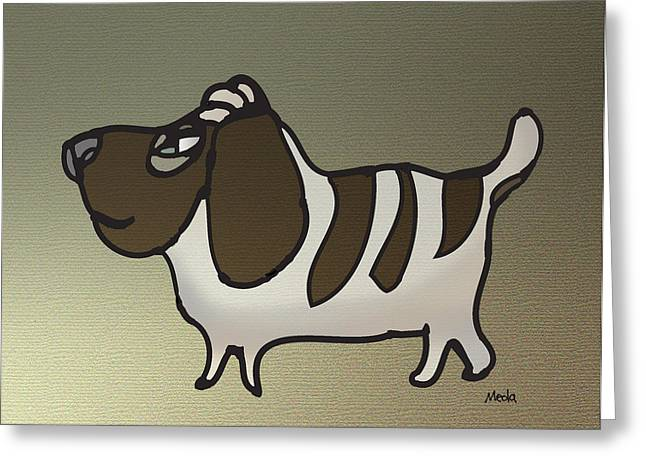 Basset Hound Framed Prints Greeting Cards - Basset Hound Greeting Card by Daniel Meola
