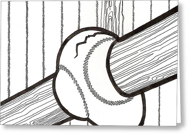 Bat and Ball Egg Greeting Card by Phil Burns