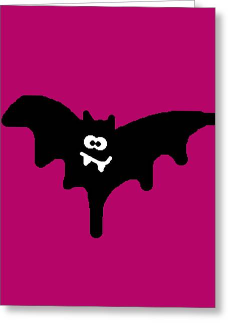 Character Portraits Greeting Cards - Bat Greeting Card by Jera Sky