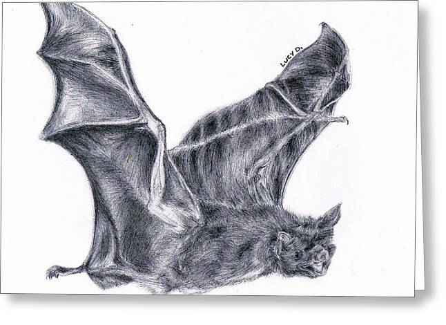 Bat Greeting Card by Lucy D