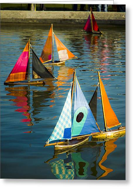 Toy Boat Greeting Cards - Bateaux Jouets Greeting Card by Bronze Riser