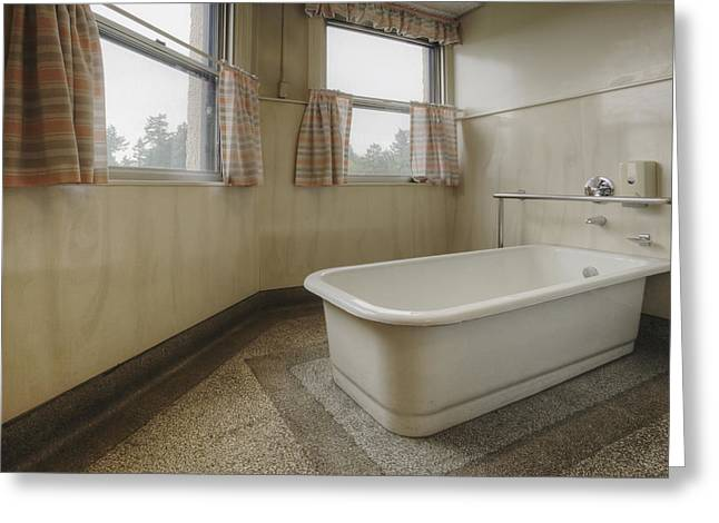 Residential Structure Greeting Cards - Bath Tub In A Residental Home. An Old Greeting Card by Douglas Orton