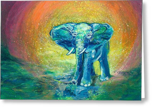 Dream Scape Greeting Cards - Bathe Me In Thy Light Greeting Card by Ashleigh Dyan Bayer