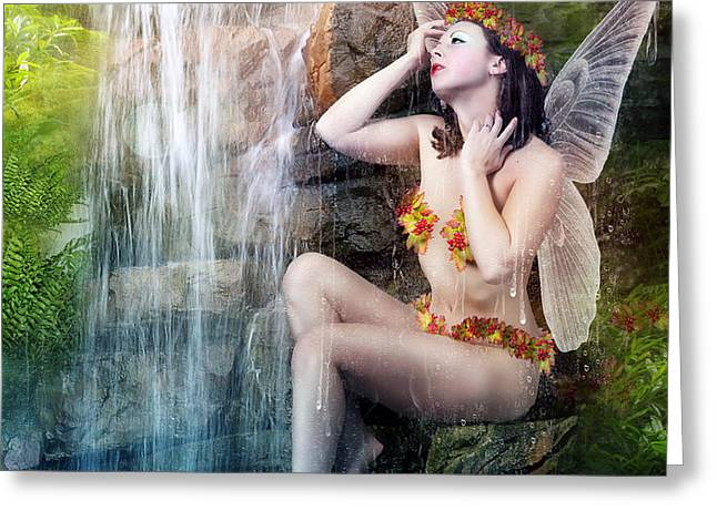 Bathing Berries Greeting Card by Karen H