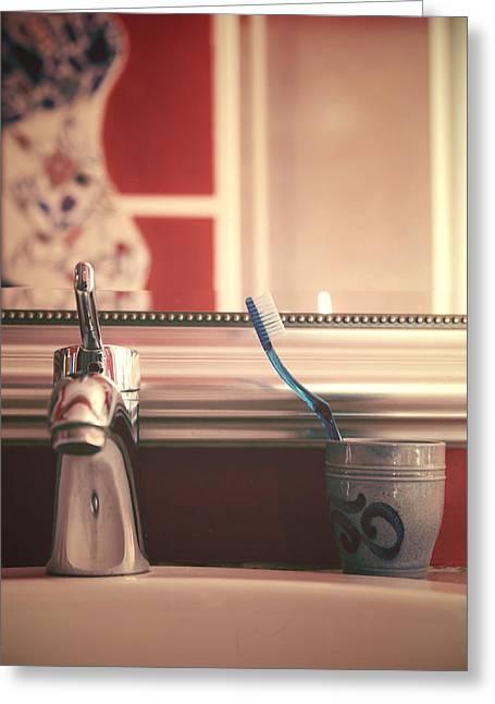 Faucet Greeting Cards - Bathroom Greeting Card by Joana Kruse