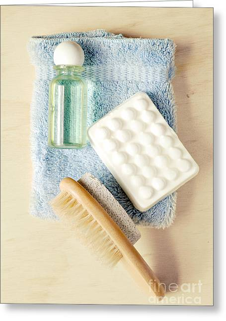 Personal Greeting Cards - Bathroom Still Life Greeting Card by HD Connelly