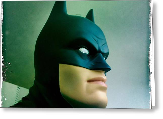 Crime Fighter Greeting Cards - Batman aka The Dark Knight Greeting Card by Nina Prommer