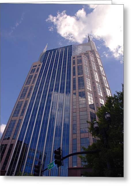 Buildings In Nashville Greeting Cards - Batman Building in Down Town Nashville Greeting Card by Susanne Van Hulst