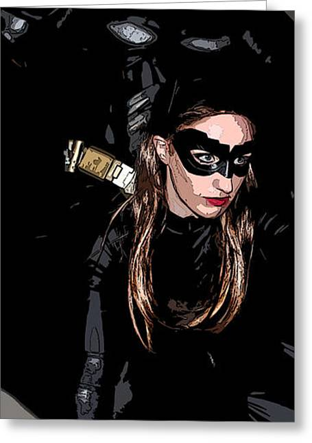 Catwoman Photographs Greeting Cards - Batman Comic The Dark Knight Rises Newark New Jersey Premiere Event Greeting Card by Lee Dos Santos