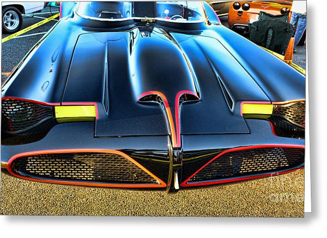 Gotham City Photographs Greeting Cards - Batmobile - 2 Greeting Card by Paul Ward