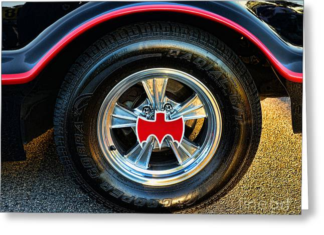 Gotham City Photographs Greeting Cards - Batmobile - 3 Greeting Card by Paul Ward