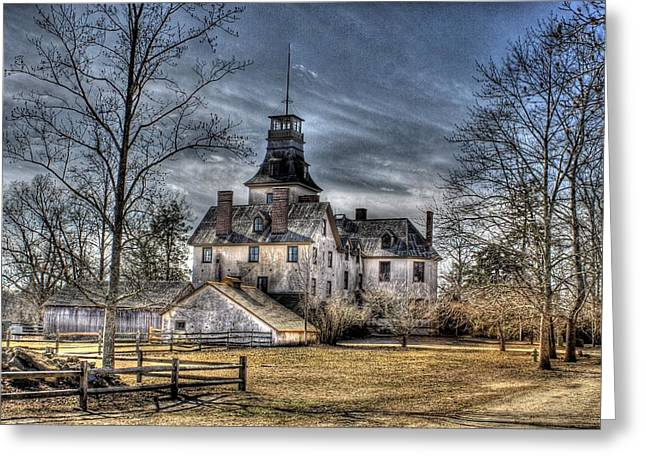 Hdr Landscape Pyrography Greeting Cards - Batsto Mansion Greeting Card by Danielle Gareau